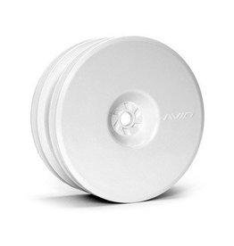 Avid RC Satellite Front Hex White Wheels (Pair, for B5, RB5)