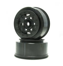 AKA Products Front Cyclone Short Course Wheel for SC10 Black