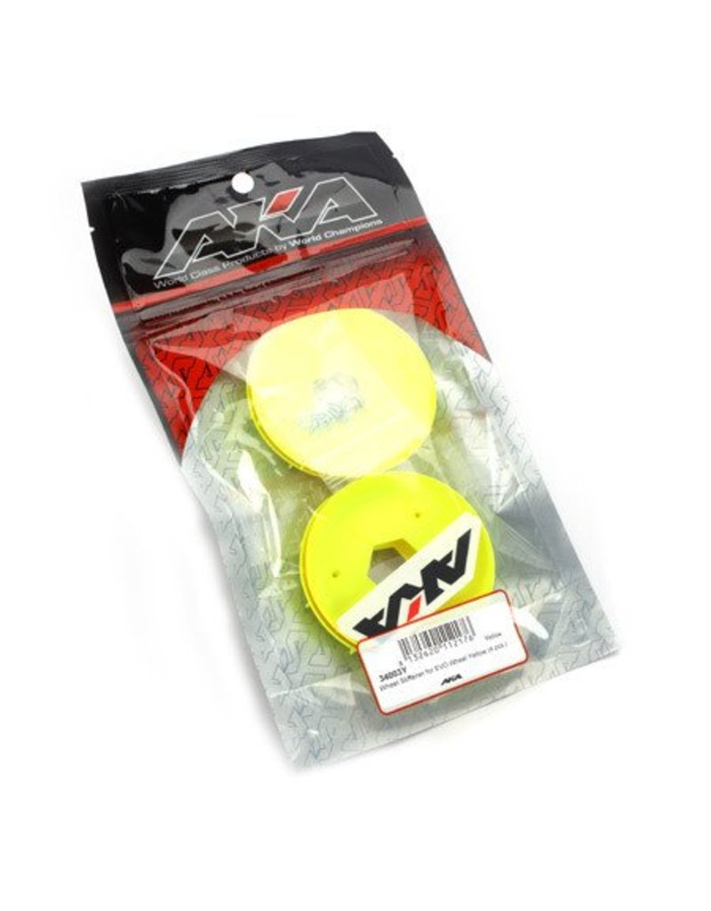 AKA Products Removable Stiffener for EVO Buggy Wheels Yellow (4)