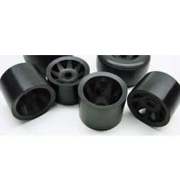 CRC GTR Wheels for 10th Pan Cars (Set of 4, Black)