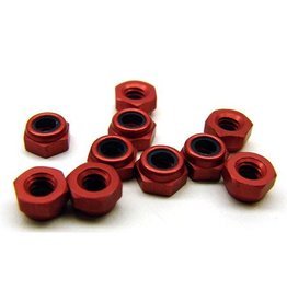 CRC Red Aluminum Locknuts 3/16 hex 4-40 Thread (10)