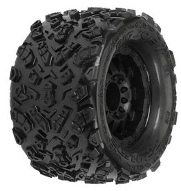 """Pro-Line Big Joe 2.0 3.8"""" Tire w/F-11 17mm 1/2"""" Offset MT Wheel (2) (Black) (M2)"""