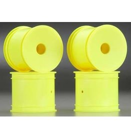 JConcepts Mono T4.1 12mm Hex Front/Rear Wheel Yellow (4)