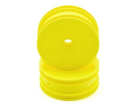Associated B4 & B4.1 Front Wheels Yellow (1pr)