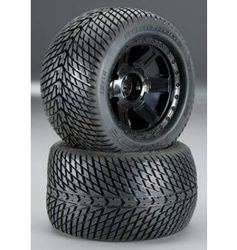 "Pro-Line Road Rage 3.8"" Tire Mounted on 1/2"" Offset Desporado (2) (Black) (M2)"