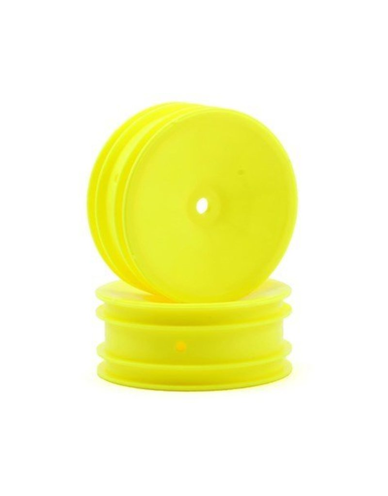 Associated B4 Buggy Front Wheel Hex Style Yellow (pr)