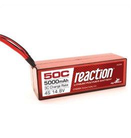 DYN Reaction 14.8V 5000mAh 4S 50C LiPo, Hardcase:Deans