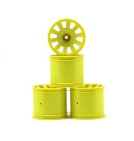 JConcepts Rulux Standard Axle Rear Wheels (4) (RC10T4) (Yellow)