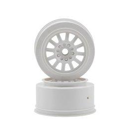 JConcepts Rulux Short Course Wheels (White) (2) (SC10 Front) (Not Hex)