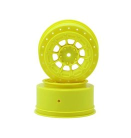 JConcepts 12mm Hex Hazard Short Course Wheels (Yellow) (2) (TEN-SCTE)