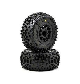 Pro-Line Badlands SC Tires w/Renegade Wheels (2) (Slash Rear) (M2)
