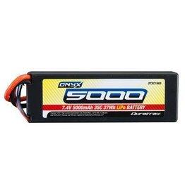 Duratrax LiPo Onyx 2S 7.4V 5000mAh 35C Hard Case Traxxas Plug