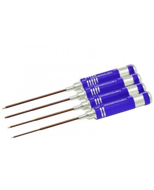 Arrowmax Allen Wrench Set .050; .063; .078; .093-4 Pcs