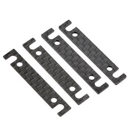 Associated Carbon Outer Arm Mount Shim Set (4) (1mm/0.5mm)