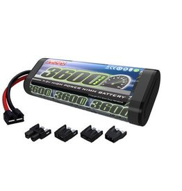 Venom 6-Cell 7.2V 3600mAh NiMH Flat Battery w/UNI Plug