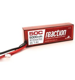 Dynamite Reaction 7.4V 5000mAh 2S 50C LiPo Hardcase w/Deans