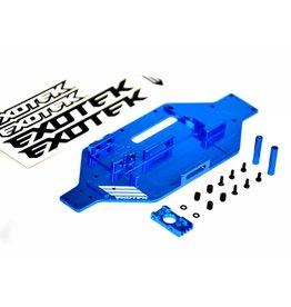 Exotek Racing Micro-Tek Aluminum Conversion Chassis for Losi Micro SCTE (Blue)