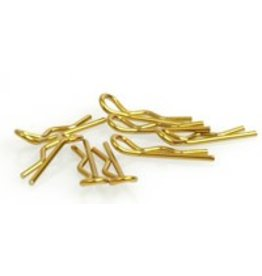 Core RC Small Body Clip 1/10 - Gold (8)