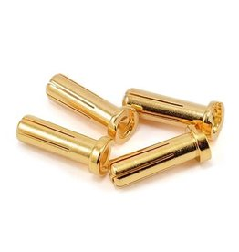 Protek RC 5.0mm Super Bullet Sold Gold Connectors (4 Male)