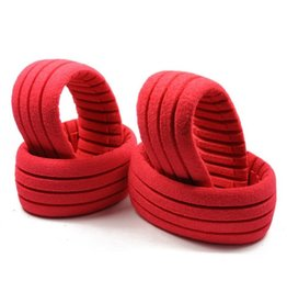 AKA Products Shaped Insert Grooved Red Soft (4) for 1/8 Truggy (4)