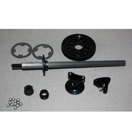 IRS 1/12 Axle Kit Large D-Ring (Black)