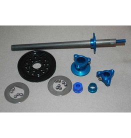 IRS 1/12 Axle Kit Large D-Ring (Blue)