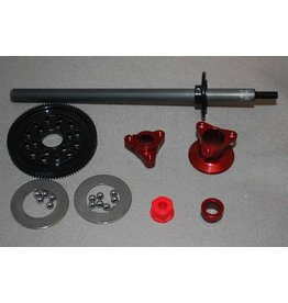 IRS 1/12 Axle Kit Large D-Ring (Red)