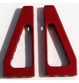 Hyperdrive Aluminum Oval Car Servo Mounts Red