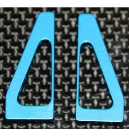 Hyperdrive Aluminum Oval Car Servo Mounts Blue