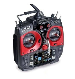 Graupner MZ-24 PRO 12 Channel 2.4G.HZ HoTT Color TFT Radio System (Red)