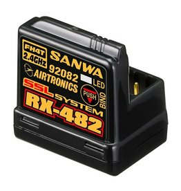 Sanwa 4-channel RX-482 Telemetry Rx w/ built-in Antenna