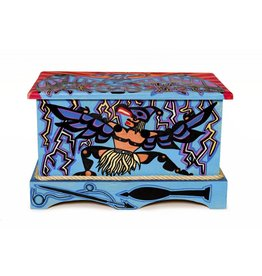 Thunderbird Dancer Chest Painted by Gyauustees (Nuchahnulth).