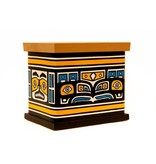 Bent Box Painted with a Tlingit Chilkat Design