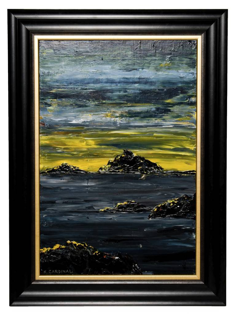 Framed Seascape by Kevin Cardinal (Cree).