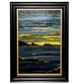 Framed seascape by Kevin Cardinal (Cree)