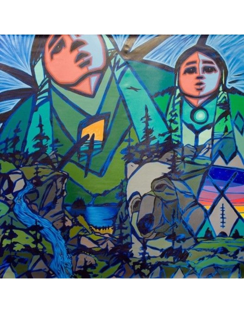 5' by 5' Painting by Jerry Whitehead (Cree).