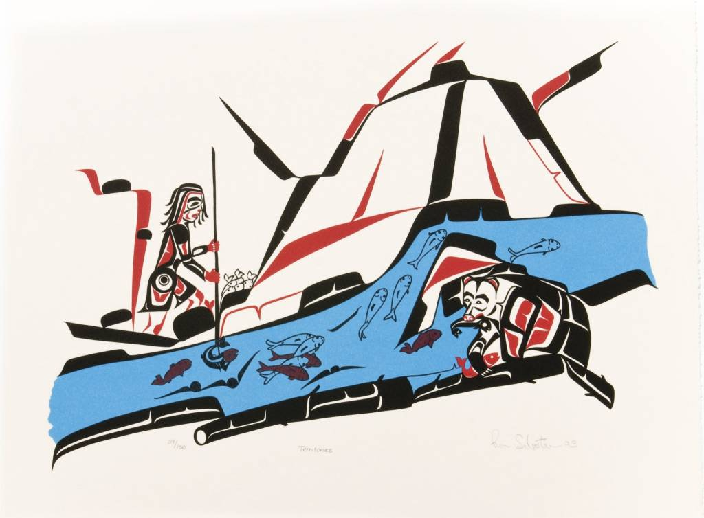 'Territories' print by Ron Sebastian (Gitxsan).
