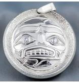 Sun & Moon Mask Repousse Pendant