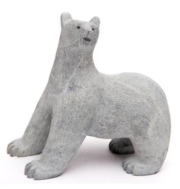 Scraped Soapstone Bear by Howard Moose (Cree).