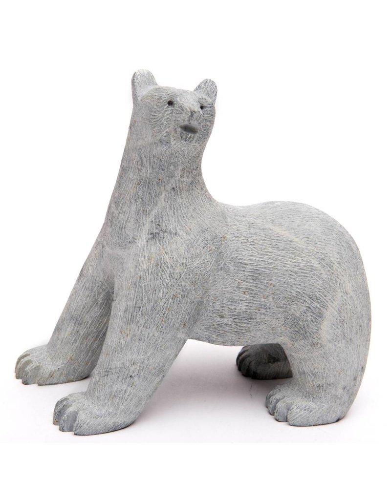 Scraped Soapstone Bear by Howard Moose (Cree).