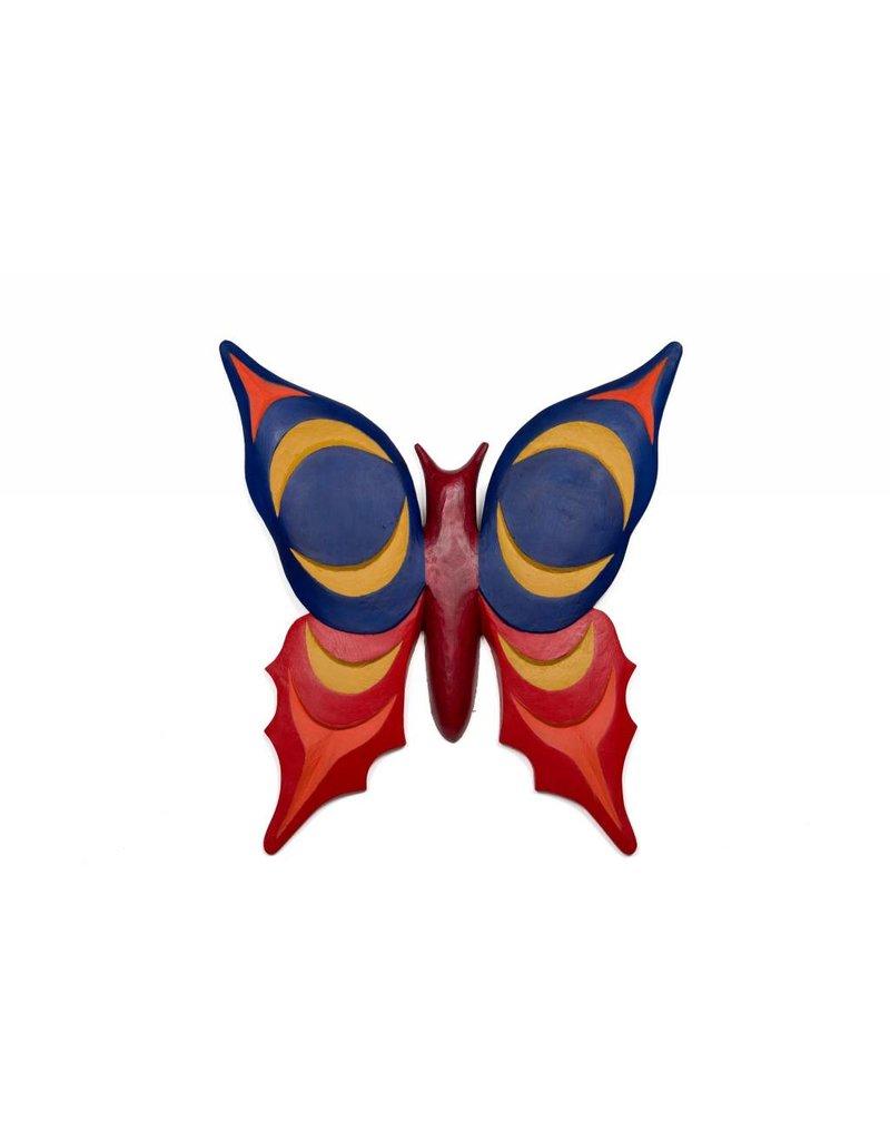 Coast Salish Butterfly Carved by Keith Nahanee (Coast Salish).