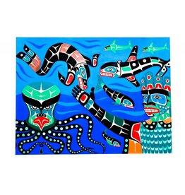 Painting - 'Undersea World' by Gord Hill (Kwakwakawakw).