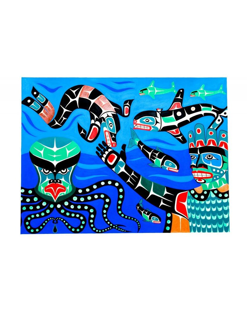 Painting - 'Undersea World' by Gord Hill (Kwakwakawakw).