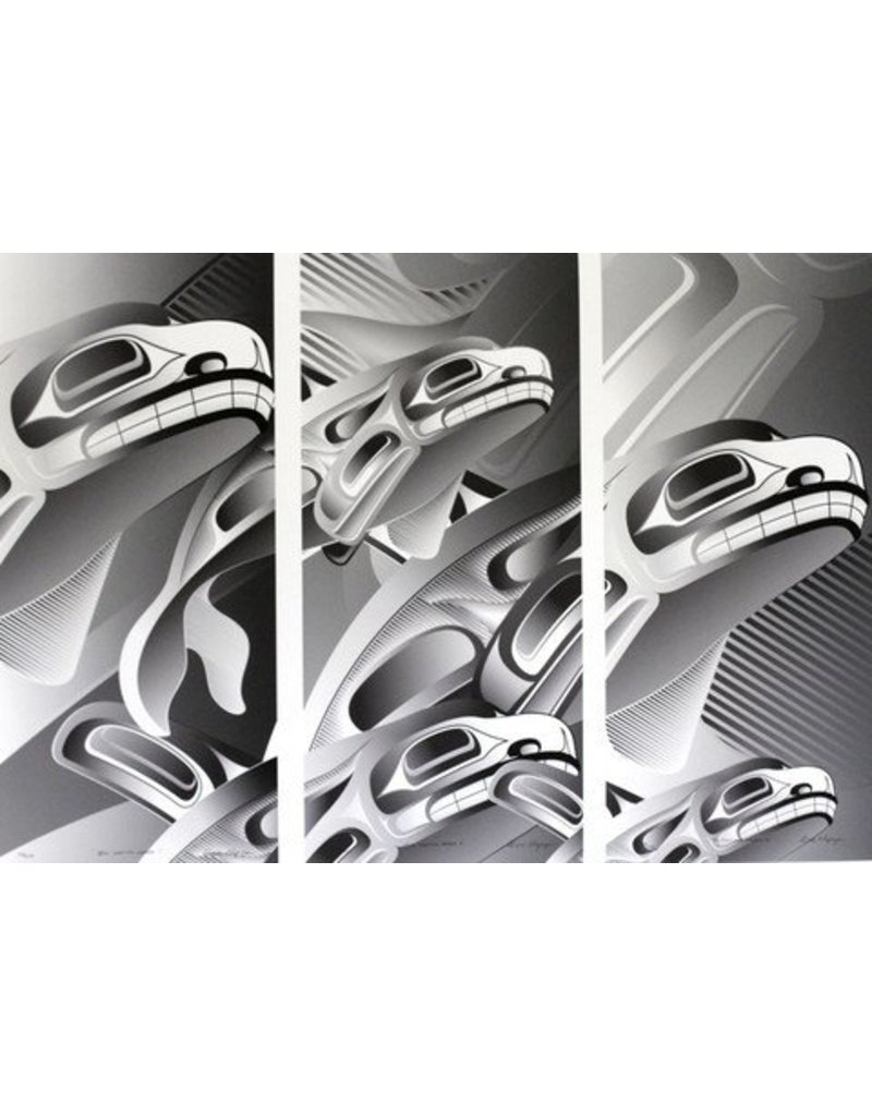 'Still Making Waves' tryptic print by Alano Edzerza