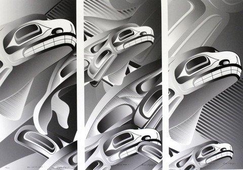 'Still Making Waves' tryptic print by Alano Edzerza