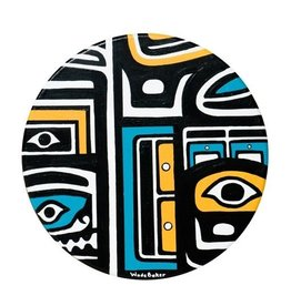 Chilkat Hand Drum painted by Wade Baker (Kwagiulth / Coast Salish).