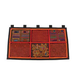 Wall Hanging constructed from 6 Molas (Kuna).