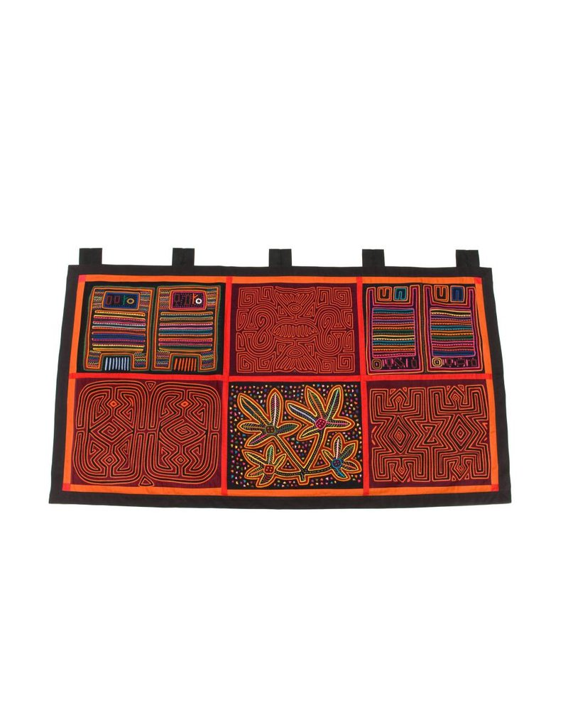 Wall Hanging constructed from 6 Molas (Kuna). *online