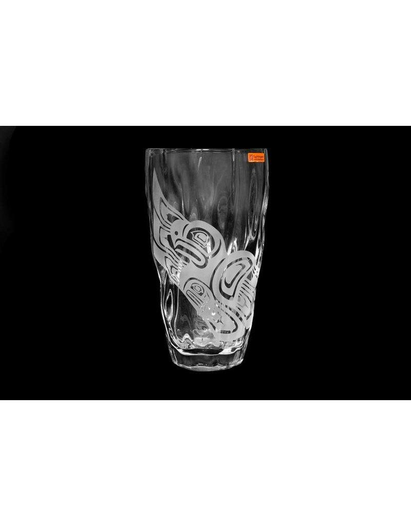 Crystal Eagle Vase by Wade Baker (Coast Salish / Kwagiulth).