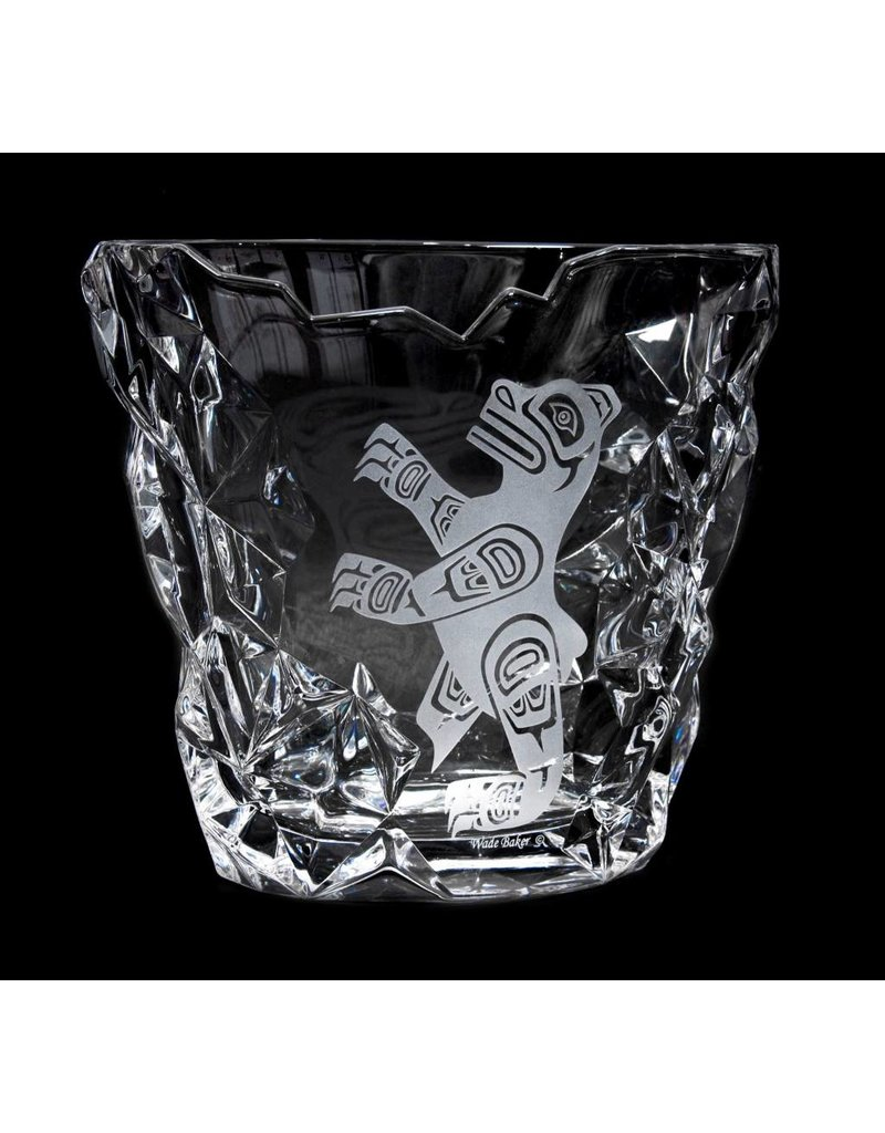 Crystal Bear Ice Bucket  by Wade Baker (glass vase)